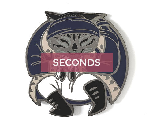 *SECONDS* Hercules Mewlligan Hard Enamel Pin