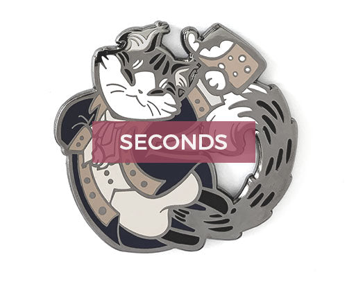 *SECONDS* John Clawrens Hard Enamel Pin