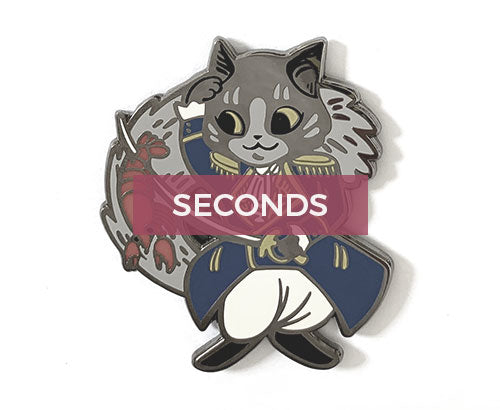 *SECONDS* Meowquis de Lafayette Pin