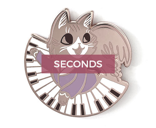 *SECONDS* Philip Hameowlton Hard Enamel Pin