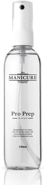 Pro Prep & Wipe - Nail Dehydrator and Finishing Solution - 100ml - The Manicure Company
