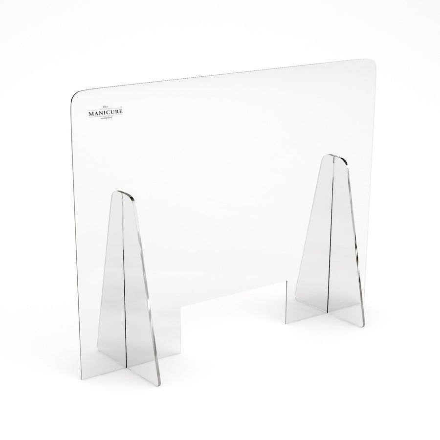 Salon protective PPE screen for desk use. Perspex salon screens made from cleanable 5mm perspex