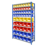 Expo 4 Shelving Bay with Bins - Oracle Workplace