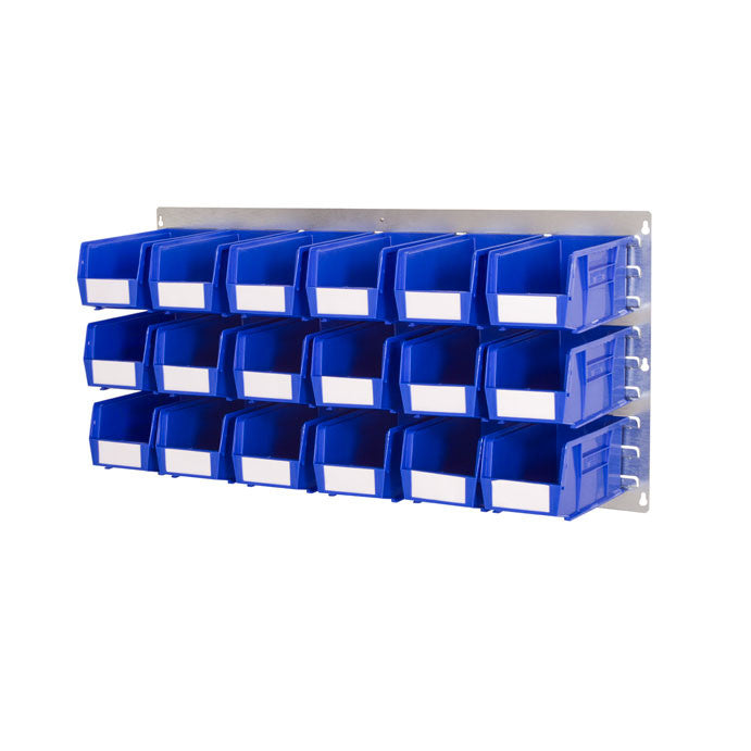 Louvre Panel Wall Kit 1000mm wide x 500mm high with Plastic Bins - Oracle Workplace