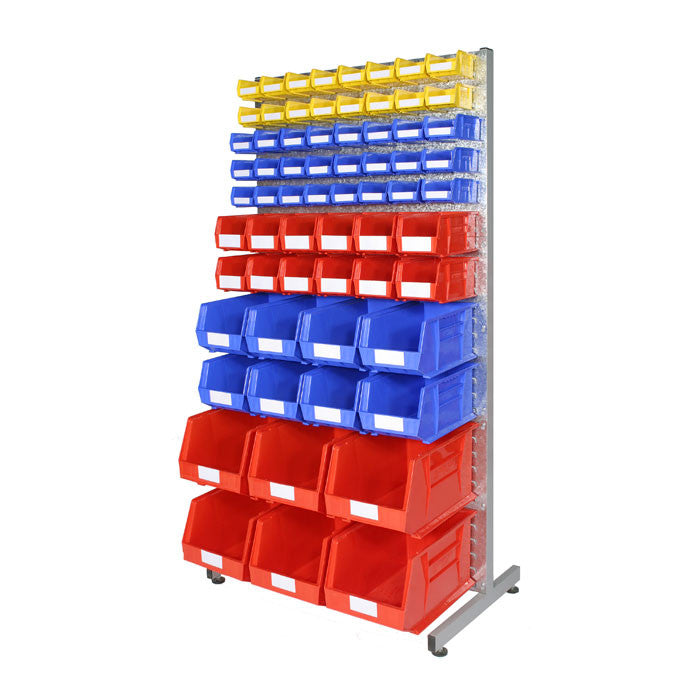 Louvre Static Rack with Rhino Tuff Storage Bins - Oracle Workplace