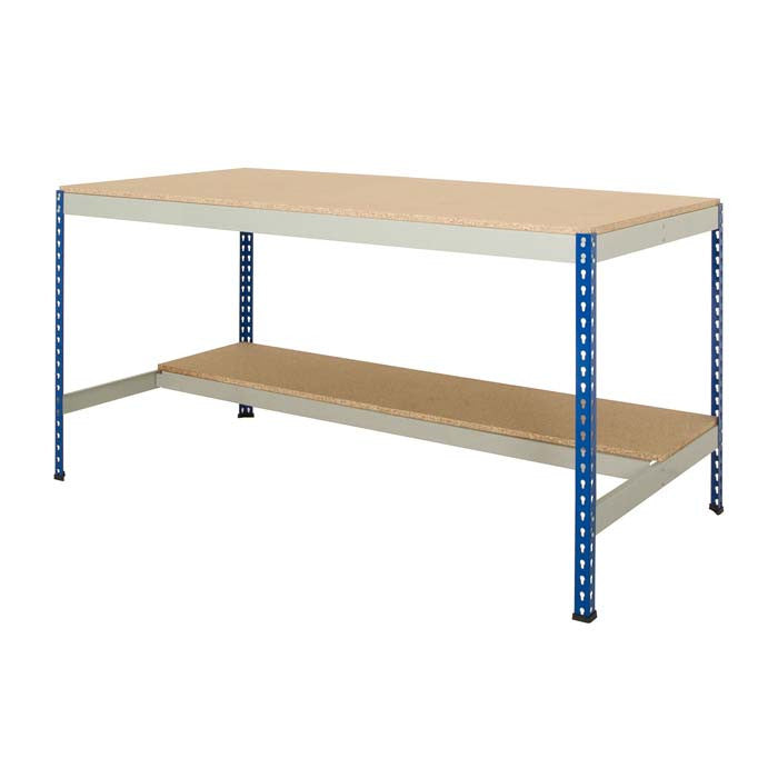 Rivet Workbench with Half Underside Shelf - Oracle Workplace
