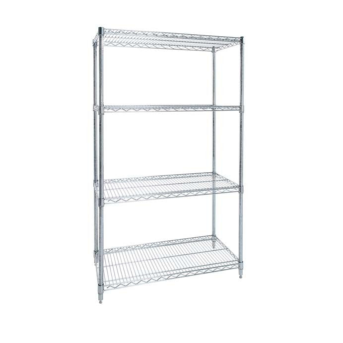 ESD Chrome Wire Shelving - Oracle Workplace