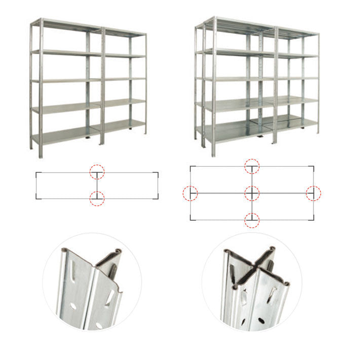 IDEA 5 Galvanised Shelving System - Oracle Workplace