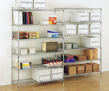 Chrome Wire Shelving Bays - Oracle Workplace