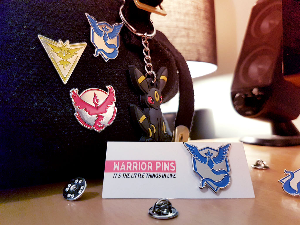 Pokemon Go Enamel Pins Team Mystic Valor Instinct Warrior Pins