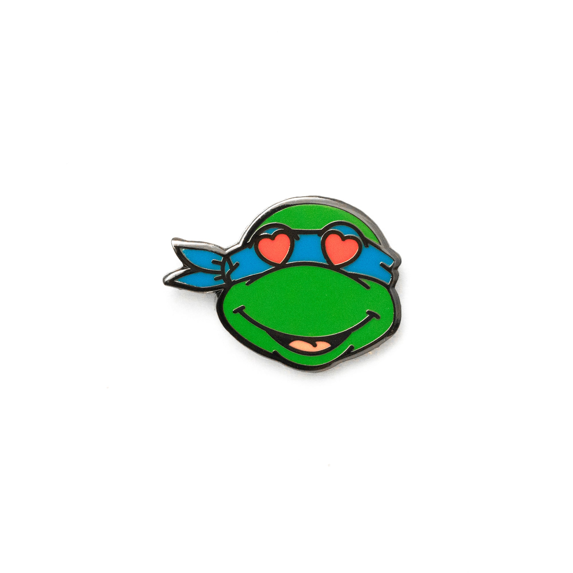 Leonardo Heart Eyes TMNT Emoji Pin