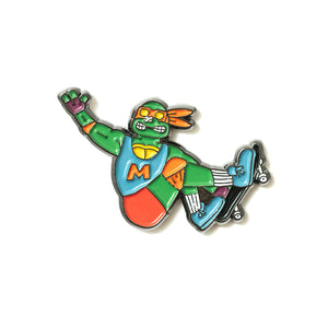 Michelangelo Skateboarding Pin