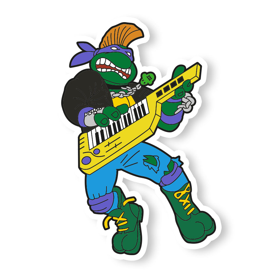 Punk Rock Donatello Sticker