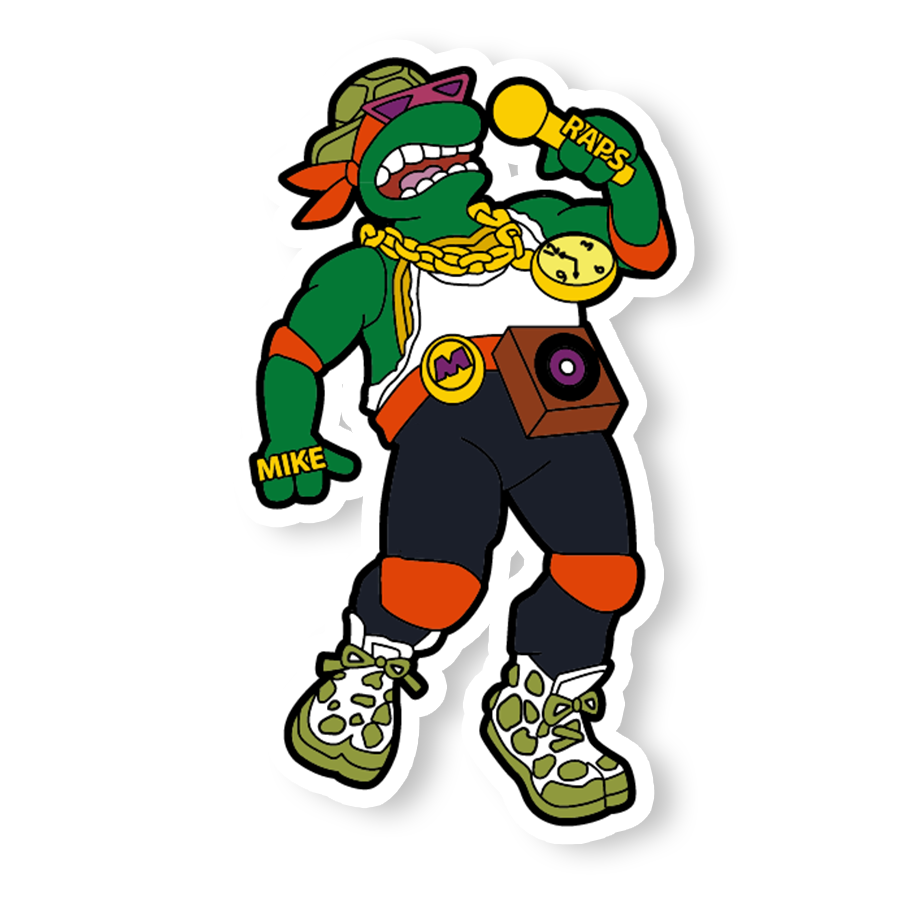 Rappin' Michelangelo Sticker