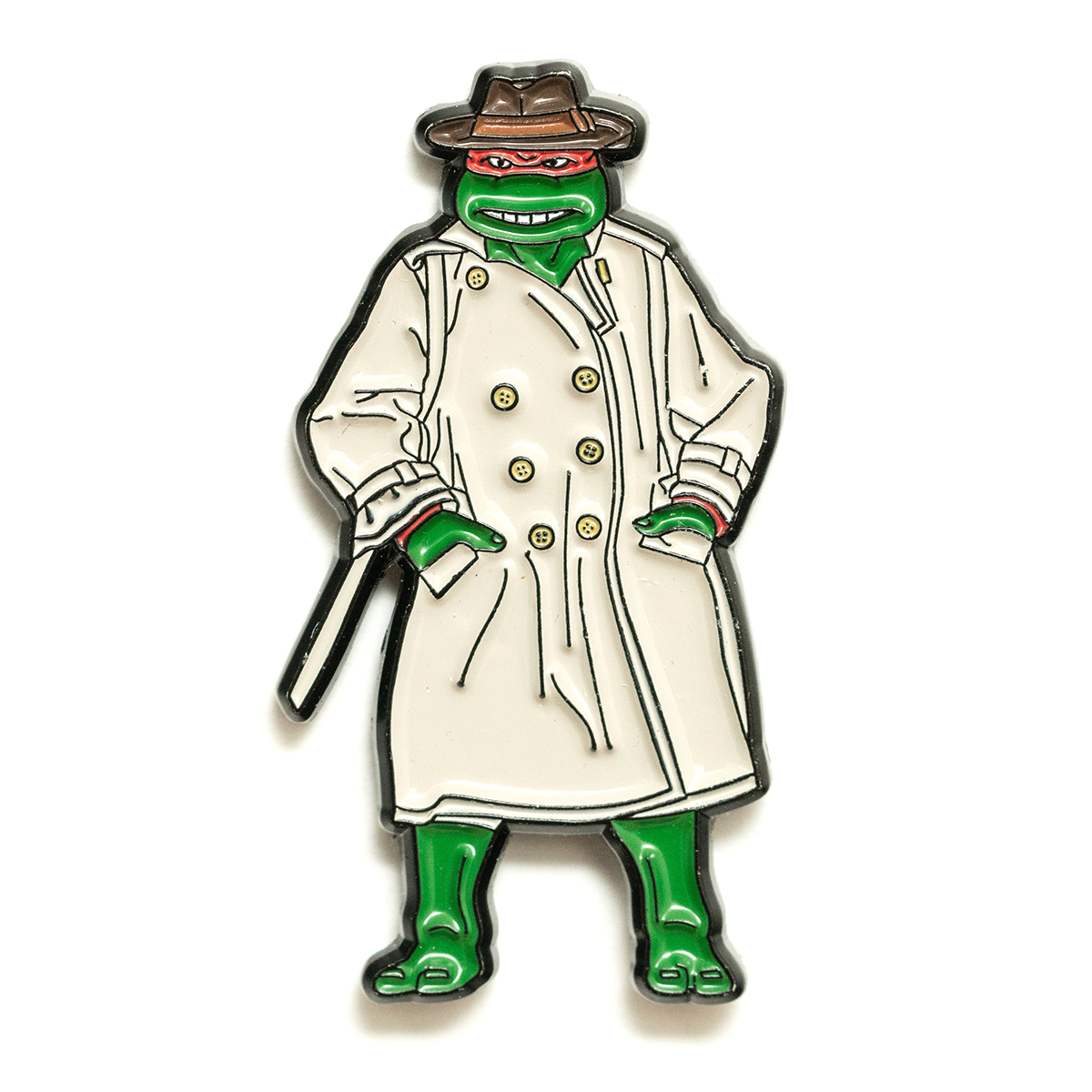 Red Turtle In Disguise Pin