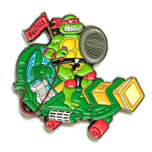 Red Turtle Sewer Skateboard Pin