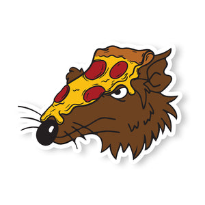 Splinter Pizza Head Sticker