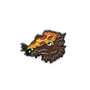 Pizza Rat Pin - Warrior Pins