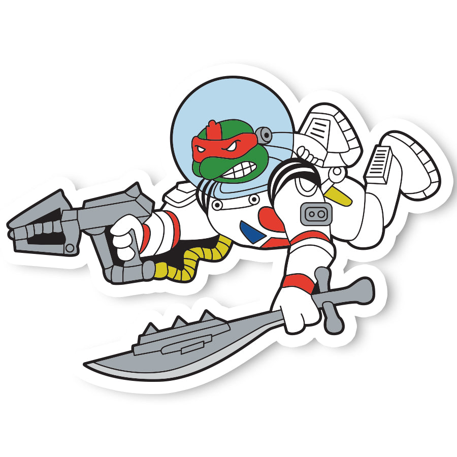Red Turtle Space Sticker