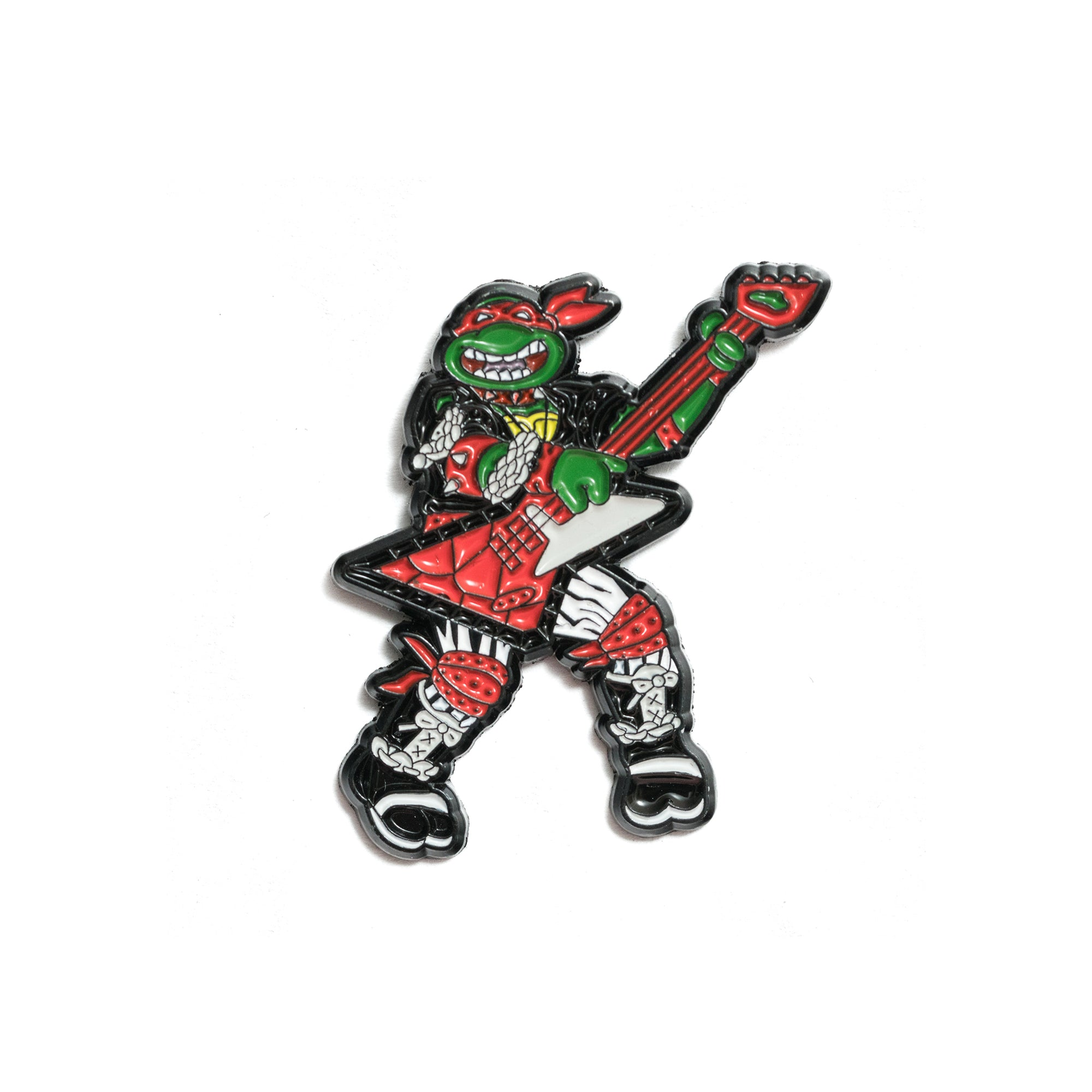 Red Heavy Metal Pin - Black & White Variant