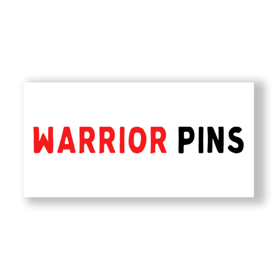 Warrior Pins Logo Sticker
