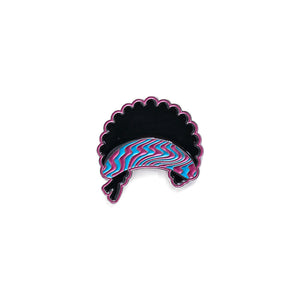 Psychedelic Afro Pin - Warrior Pins