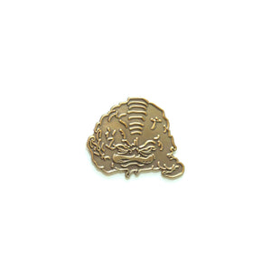 Gold Alien Pin - Warrior Pins