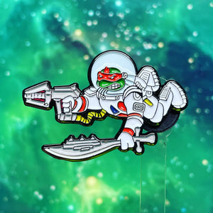 Red Turtle Space Pin