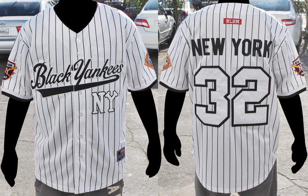 NLBM Negro League Baseball Jersey - NY Black Yankees White – Mobizix ... f61a6f7e2c7