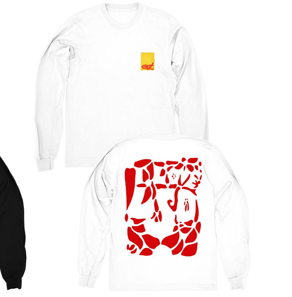 "Long Sleeve Gut ""I Love LSD"" Shirt (WHITE)"