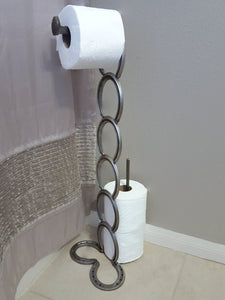Horseshoe and Railroad-Spike Toilet Paper Holder - The Heritage Forge