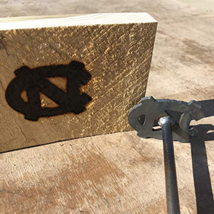 North Carolina Tar Heels - 3 x 2.4 - BBQ Branding Iron - College - BBQ, Crafts, Woodworking Projects - The Heritage Forge