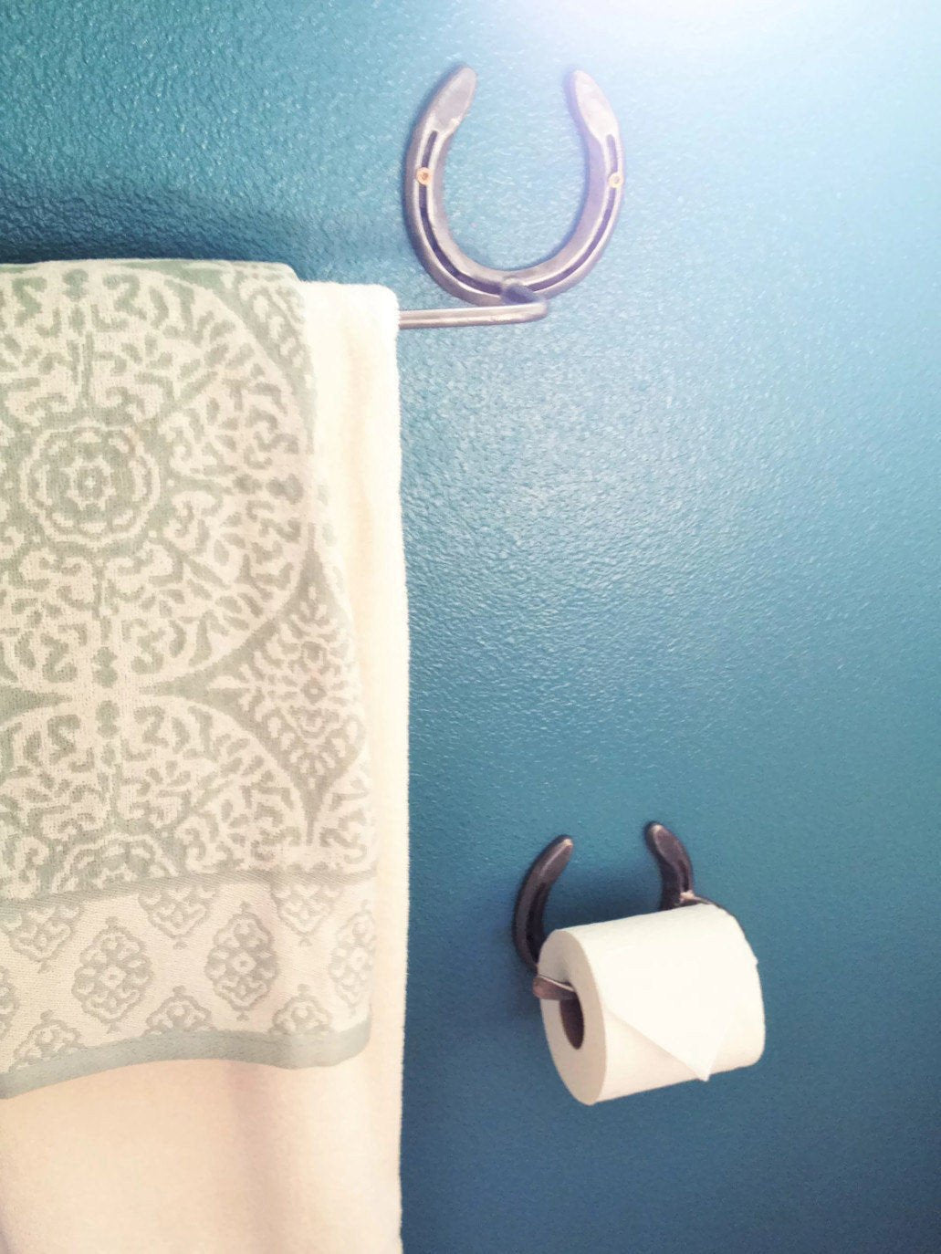 Rustic Horseshoe Toilet Paper Holder - The Heritage Forge