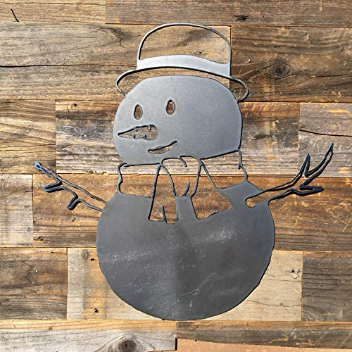 The Heritage Forge Rustic Home, Snowman Sign 20 x 20, Farmhouse, Metal Words, Kitchen Wall Decor, Home Decor, Farmhouse Sign, Christmas Holiday