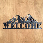 The Heritage Forge Rustic Home, Mountain Welcome Sign 20 x 8, Motivational, Metal Words, Kitchen Wall Decor, Home Decor, Farmhouse Sign, Motivational