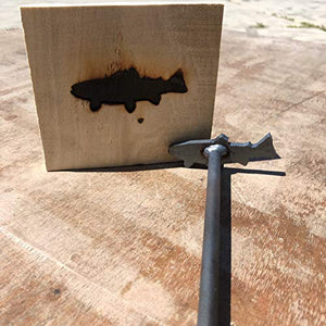 "Trout Brand - 3.5"" - BBQ, Crafts, Woodworking Projects - The Heritage Forge"