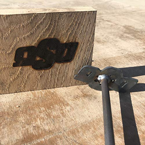 Oklahoma State University Cowboys - 3.5 x 1.7 - BBQ Branding Iron - College - BBQ, Crafts, Woodworking Projects - The Heritage Forge