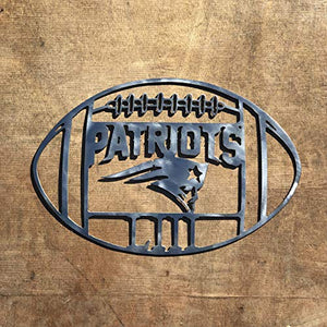 The Heritage Forge Patriots Football Logo - 15 x 10, Motivational, Metal Words, Kitchen Wall Decor, Home Decor, Farmhouse Sign, Motivational