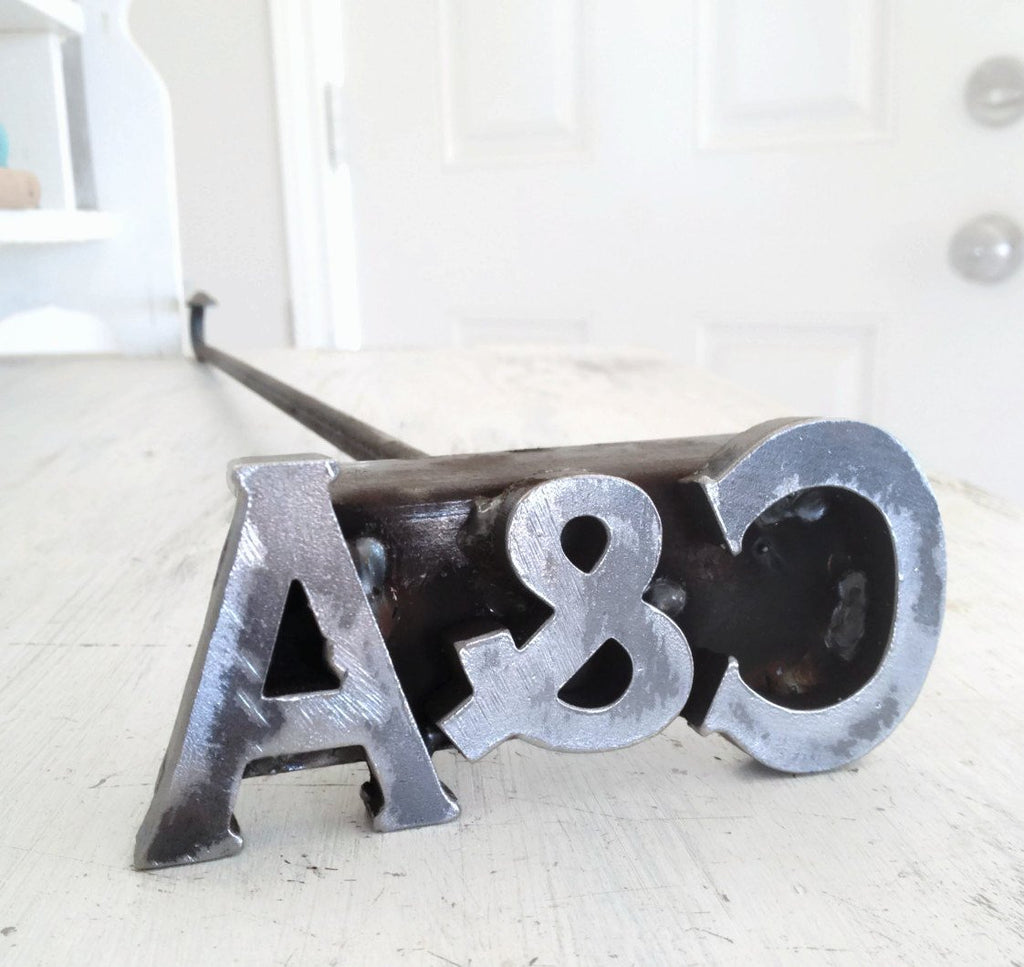 Custom Branding Iron - Cowboy Monogram - The Heritage Forge