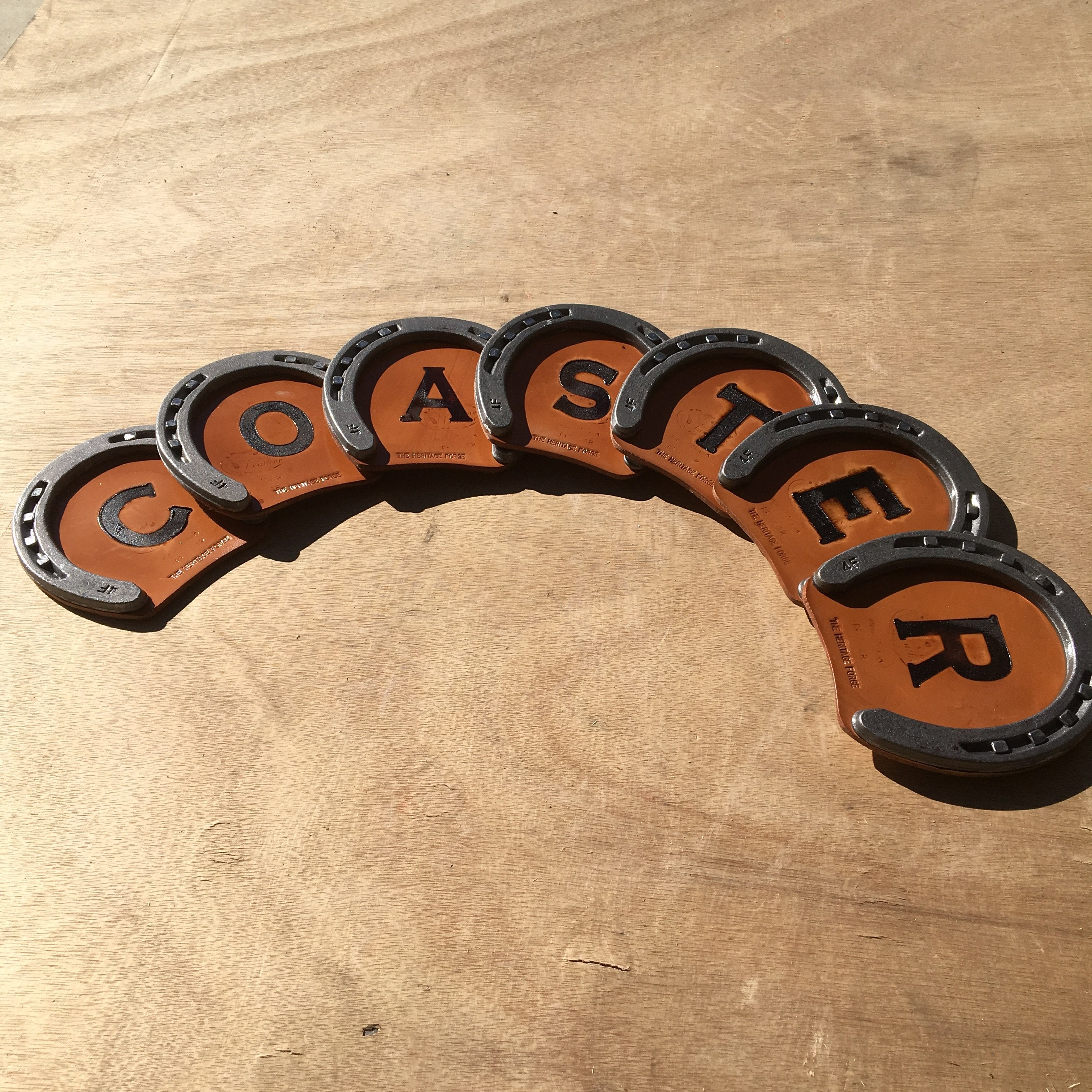 Custom Rustic Horseshoe Drink Coaster - The Heritage Forge