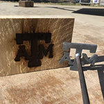 Texas A&M Aggies - College Branding Iron - BBQ, Crafts, Woodworking Projects - The Heritage Forge