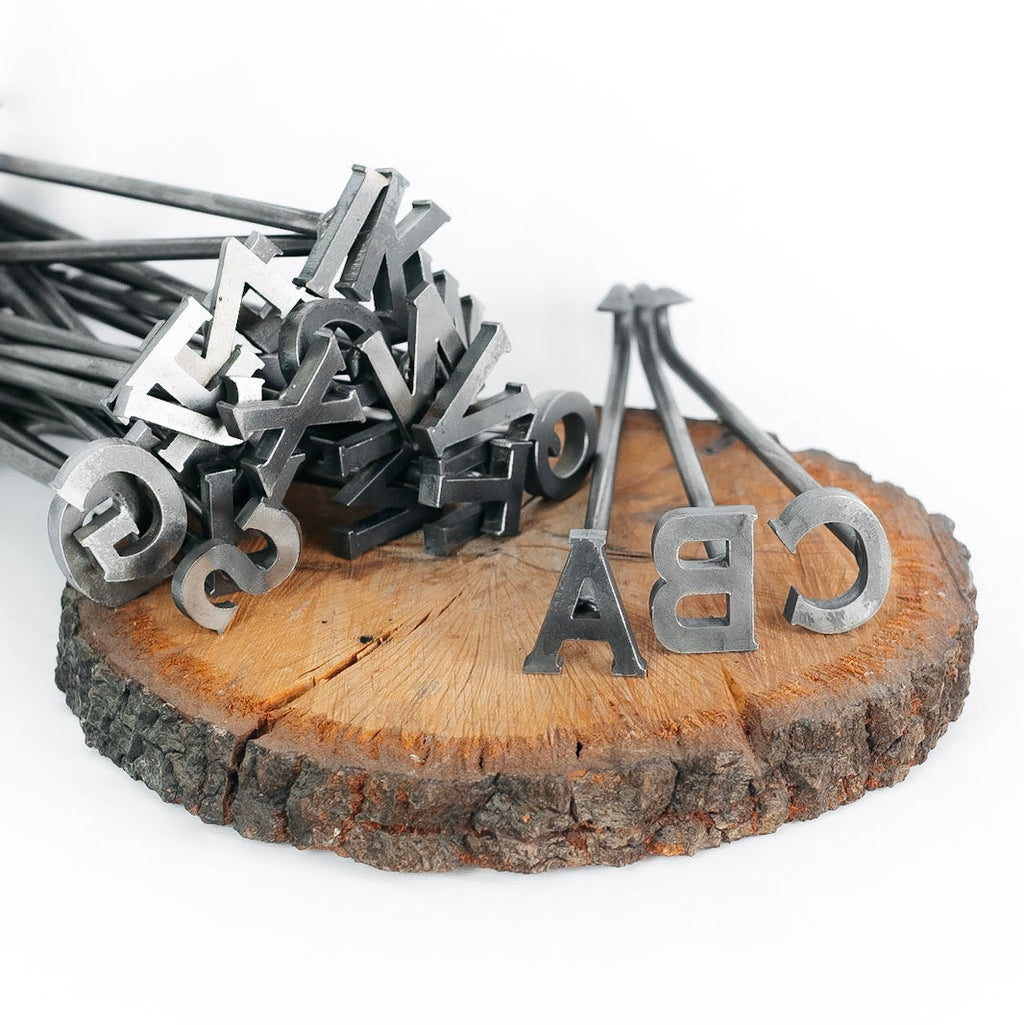 "A-Z Alphabet Branding Irons - 26 Letters - 2"" Tall - Custom Cowboy Monogram - The Heritage Forge"
