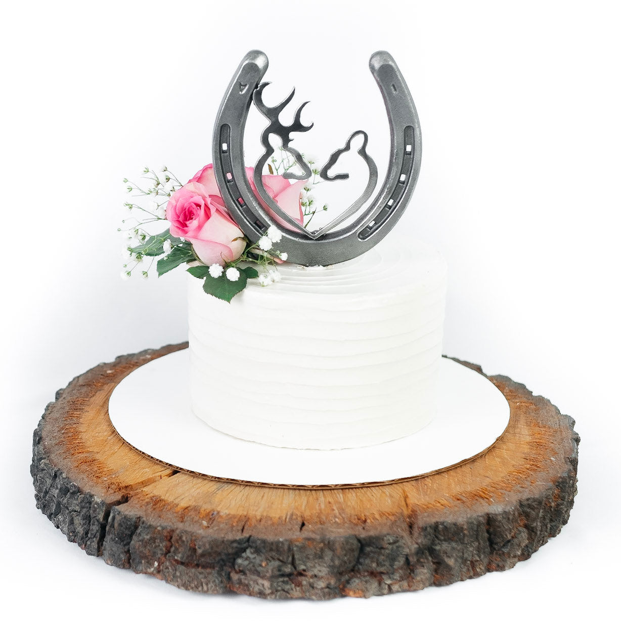 Horseshoe Buck and Doe Wedding Cake Topper