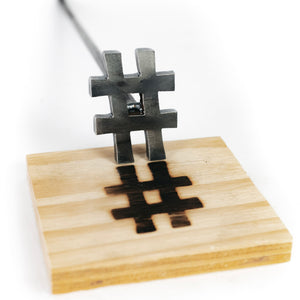 "Hash Tag Branding Iron - # - 2"" BBQ, Crafts, Woodworking Projects - The Heritage Forge"