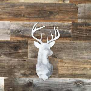 Rustic Home, Deer Head Sign,  Farmhouse, Metal Words, Kitchen Wall Decor, Home Decor, Farmhouse Sign