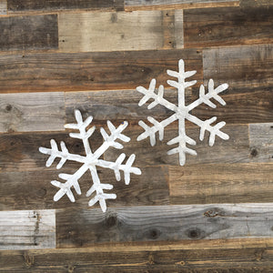 Rustic Home, 2 Snowflakes Sign,  Farmhouse, Metal Words, Kitchen Wall Decor, Home Decor, Farmhouse Sign