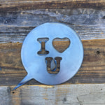 Rustic Home, I Heart You 9 x 9,  Farmhouse, Metal Words, Kitchen Wall Decor, Home Decor, Farmhouse Sign, Love