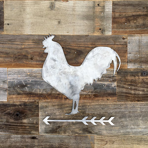 Rustic Home, Rooster and Arrow Sign, Farmhouse, Metal Words, Kitchen Wall Decor, Home Decor, Farmhouse Sign