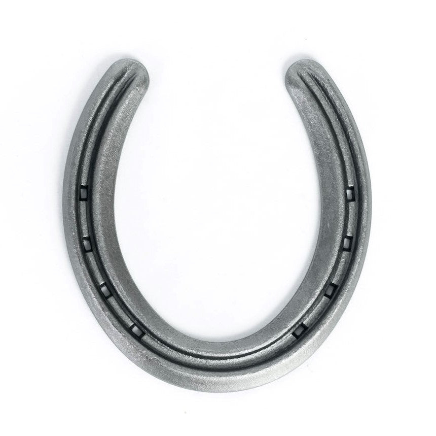 New Steel Horseshoes - Lite Rim Size 0 - Sand Blasted Steel - The Heritage Forge