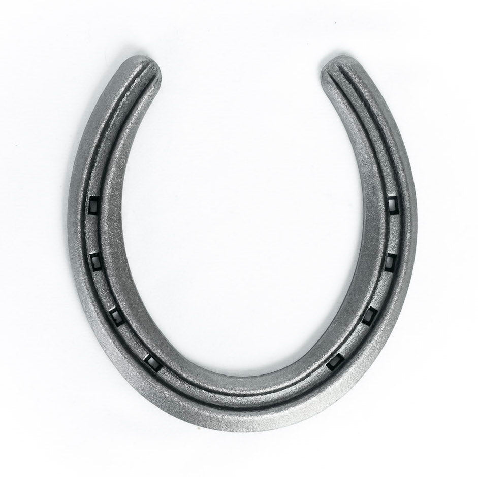 New Steel Horseshoes - Lite Rim Size 1 -Sand Blasted Steel - The Heritage Forge